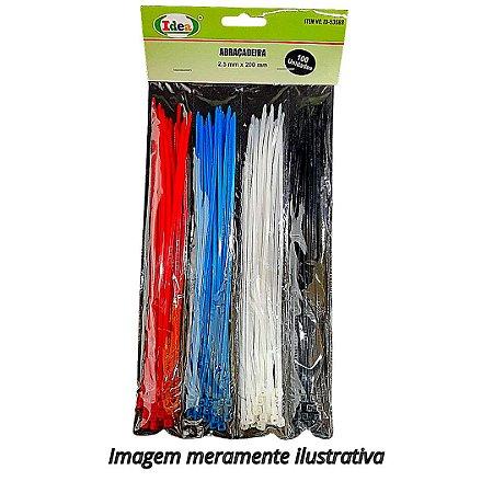 Abraçadeira de Nylon IDEA Colorida 2.5mm x 200mm