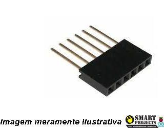 Barra de 6 pinos fêmea / Conector Empilhável para Arduino