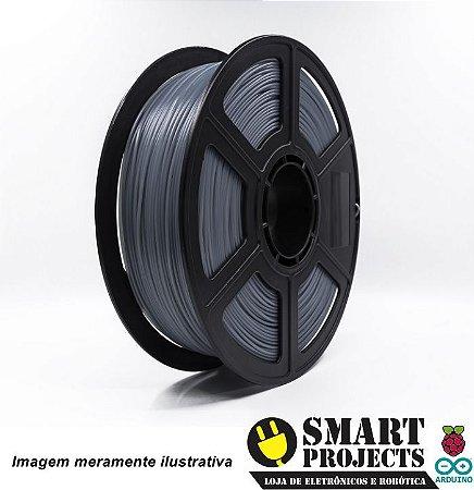 FIlamento PLA 1,75mm 1kg Cinza para impressora 3D