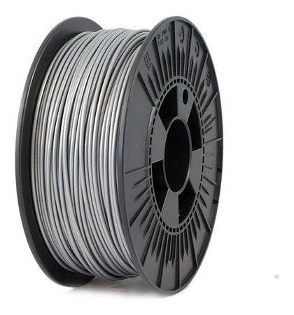 FIlamento PLA 1,75mm 1kg Prata para impressora 3D
