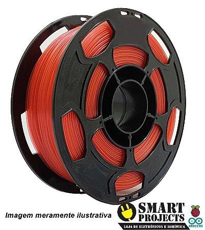 FIlamento PLA 1,75mm 1kg vermelho translucido para impressora 3D
