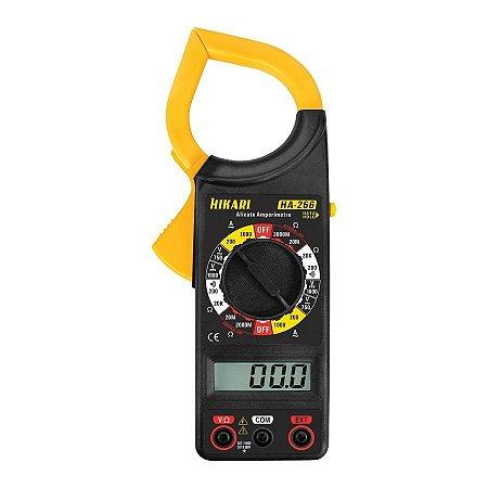 Alicate Amperímetro Digital HA-266  Multímetro Hikari