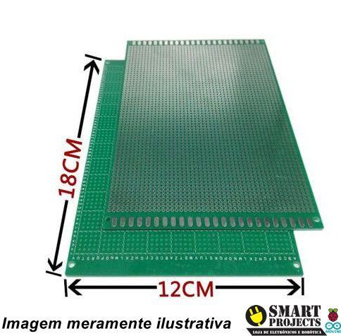 Fenolite Placa de Circuito Impresso Ilhada Dupla Face 12X18CM