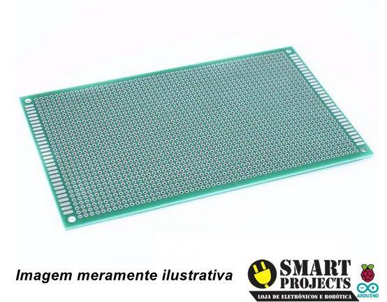 Fenolite Placa de Circuito Impresso Ilhada de Dupla Face - 9x15 cm
