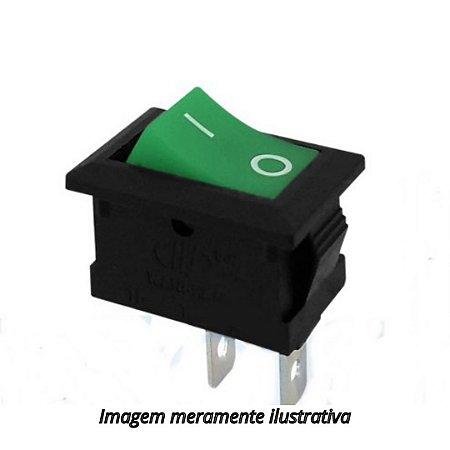 Chave Gangorra 2 Terminais  Verde KCD1-001
