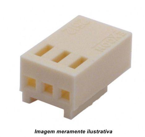 Alojamento Conector Molex KK 2,5mm 3 vias
