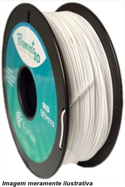Filamento PET-G 1,75mm 1KG Branco