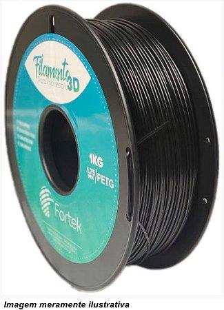 Filamento PET-G 1,75mm 1KG Preto