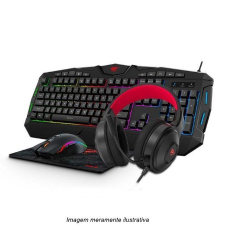 Gamer Havit Gamenote Rgb Teclado Mouse Headphone