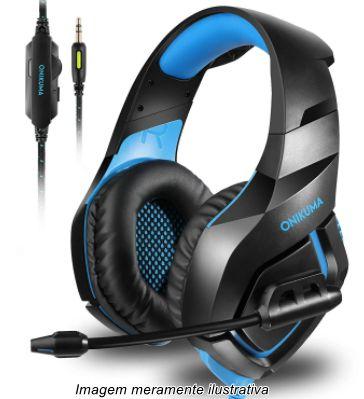 Fone de Ouvido Headset Gamer K1B Azul Onikuma