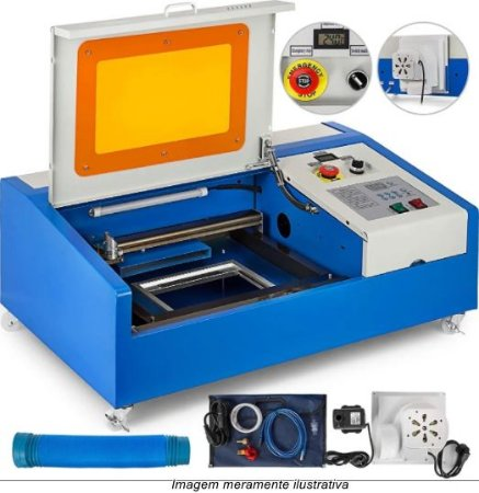 Máquina Router Laser Fk3020 Corte E Gravação 30x20cm 40w