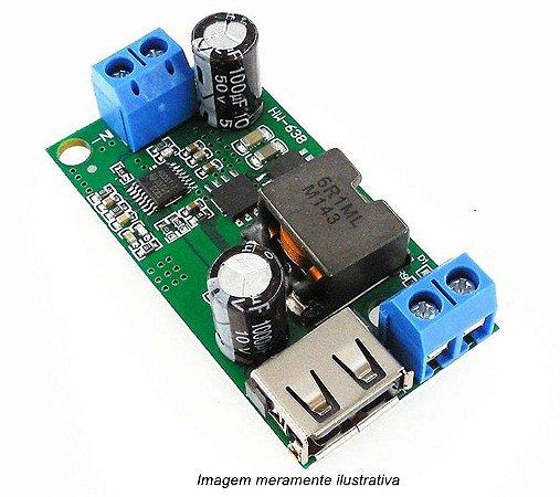 Módulo Conversor Step Down 9 - 36v para Saída USB 5V 5A