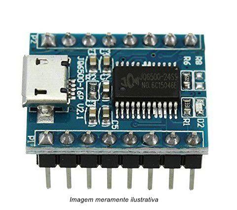 Módulo Processador de Som e Voz JQ6500 Micro USB 5 vias