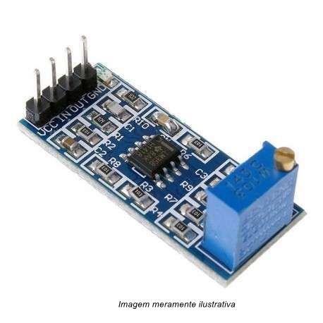 Módulo Amplificador Operacional LM358 Ganho 100X