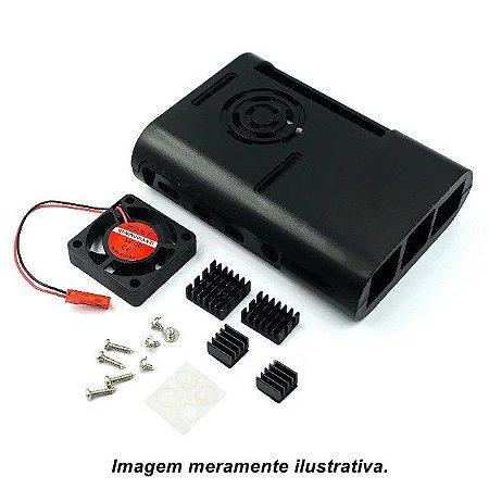 Case Raspberry Pi 4 + Cooler + Kit dissipador