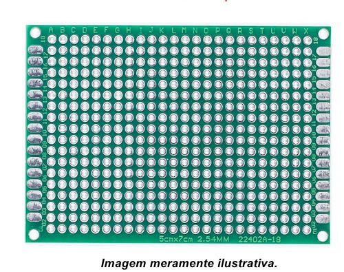 Fenolite Placa de Circuito Impresso Ilhada - 5x7 cm