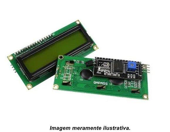 Display LCD 16X2 Backlight Verde com I2C soldado