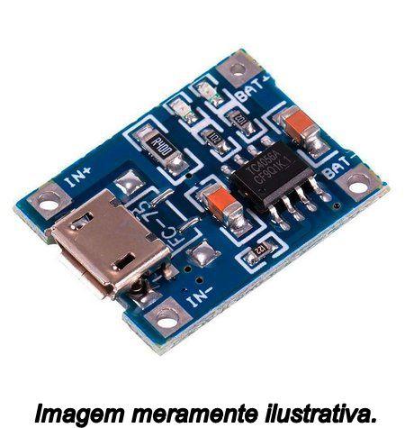 Módulo Carregador de Baterias Lithium TP4056 Micro USB