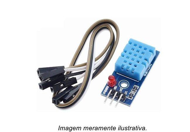 Módulo Sensor de Temperatura e Umidade DHT11 com LED