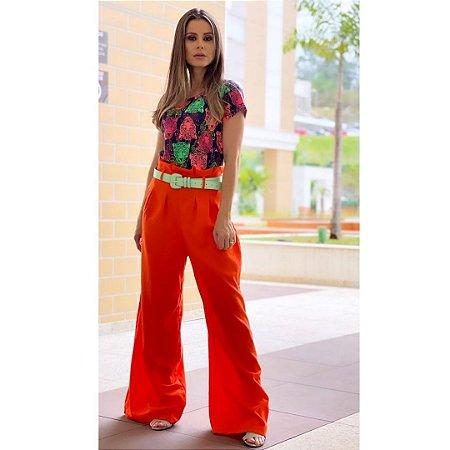 Blusa T-Short Tigre Colorida Malha