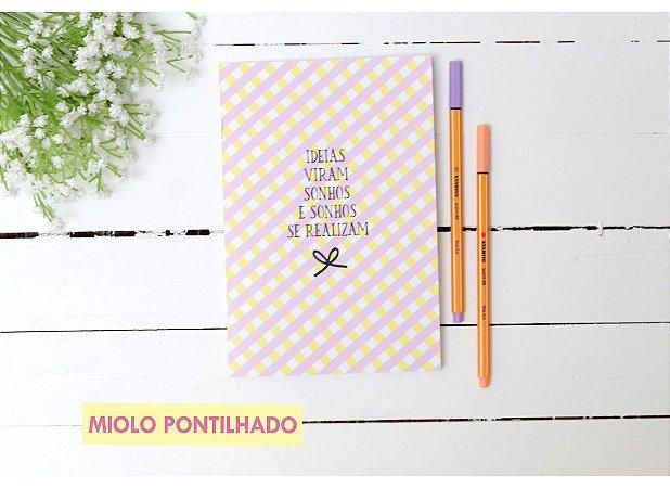 Paper Journal Mini - IDEIAS VIRAM SONHOS - Pontilhado