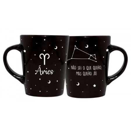 CANECA DECORATIVA CATARINA 270ML - SIGNOS - ARIES