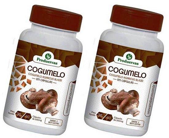 Imunidade Baixa Cogumelo 120 Cápsulas 500 Mg Agaricus Blazei