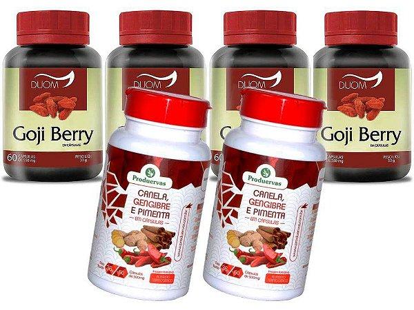 Goji Berry Beneficios Kit 4 mais 2 Termogênico Super Oferta