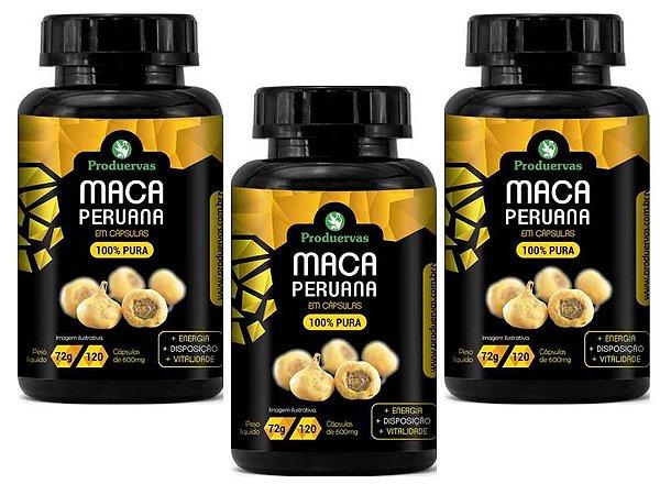 Maca Peruana 100% Pura 360 Cápsulas 600 Mg Original Oferta