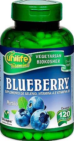 Blueberry Rico em Antioxidantes 120 capsulas 550 mg Benefícios