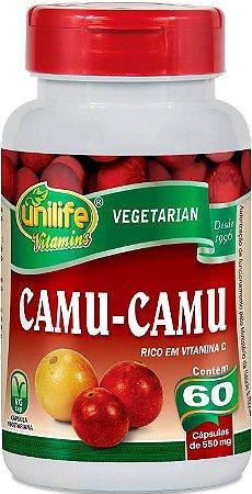 Vitamina C Camu Camu Danos dos Radicais Livres 60 Cáps 500 mg