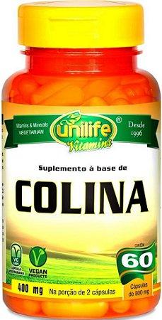Colina Gordura Figado Vitamina B8 Cerebro 60 capsulas 800 mg