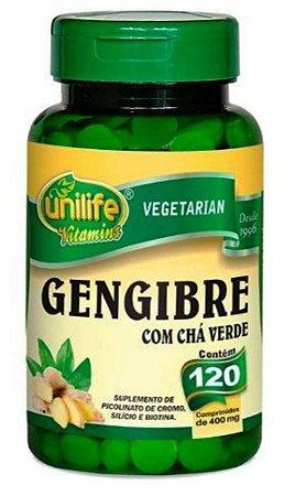 Gengibre com Chá Verde Efeito Termogenico 120 cpr 400 mg