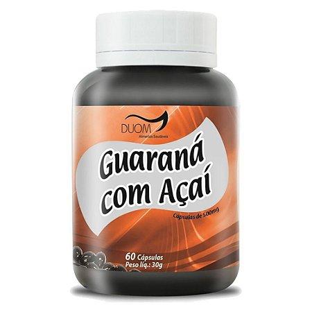 Guaraná com Açaí Energetico Antioxidante Power 60 capsulas 500 mg