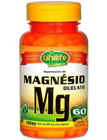 Magnésio Quelato 60 Cápsulas 730 mg Funciona Benefícios