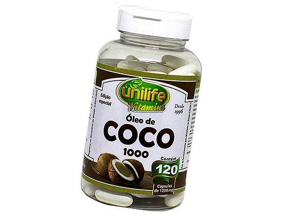 Óleo de Coco Puro 120 capsulas 1200 mg