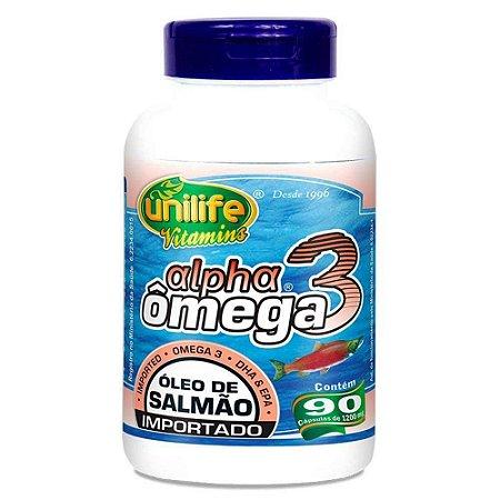 Ômega 3 Ação Anti Inflamatória Óleo de Salmão Importado 90 caps 1.2 g