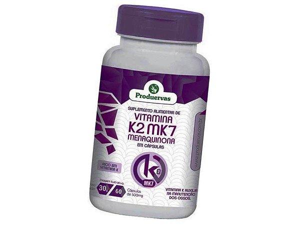 Vitamina K2 Menaquinona 60 capsulas 500 mg Manutenção Ossos