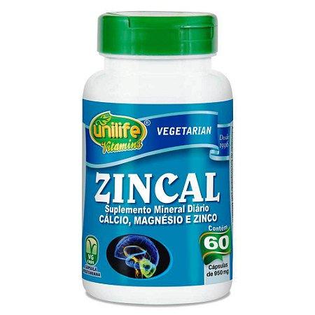 Zincal Zinco, Cálcio e Magnésio 60 capsulas 950 mg
