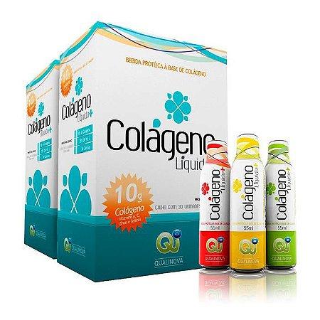Colageno Liquido Qualinova Absorção 300% Maior Funciona Kit2