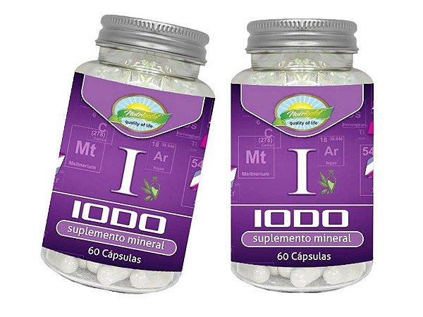 Iodo Inorgânico Lugol Em Cápsulas 60 Caps 650 Mg Kit 2