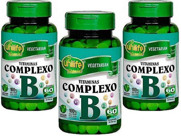 Vitaminas Complexo B Kit 3 Potes B1 B2 B3 B5 B6 B7 B9 B12