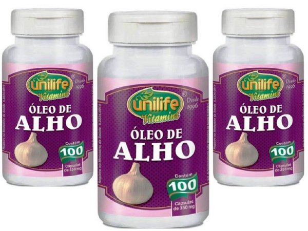 Suplemento de Óleo de Alho com 300 capsulas de 350 mg