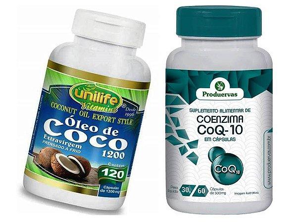 Coenzima Q10 Como Tomar e Óleo de Coco Energia em Dobro 2P