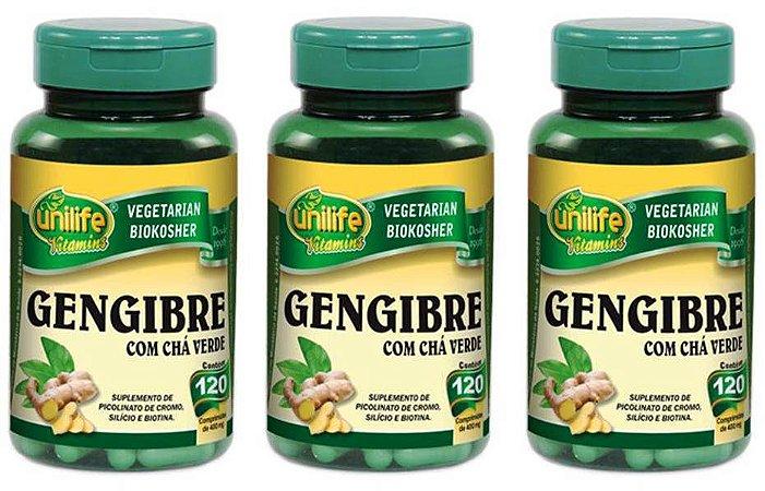 Gengibre com Chá Verde Efeito Termogenico 360 cpr 400 mg