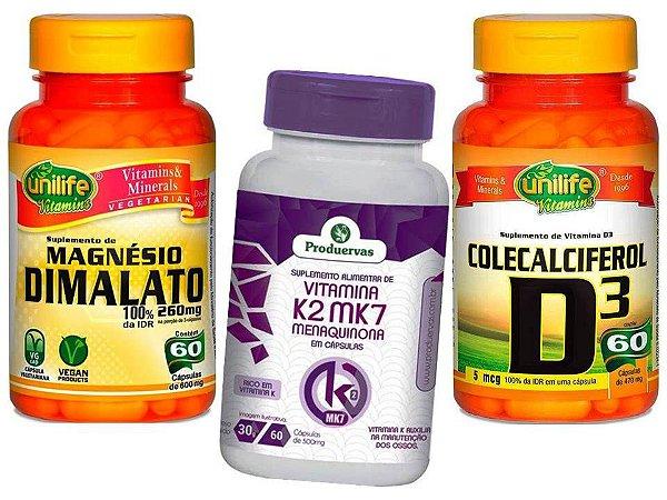 Magnesio Dimalato Vitamina K2 e Vita D3 Pra Que Serve 3 P
