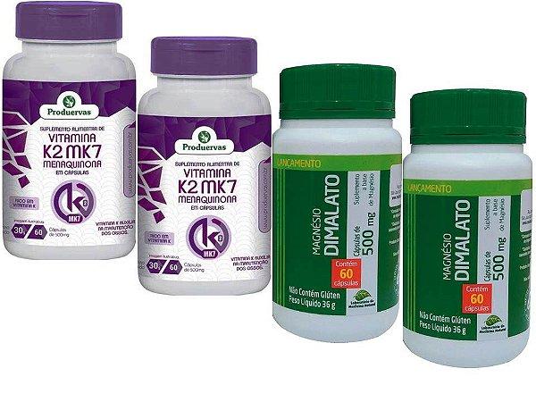 Vitamina K2 Magnésio Dimalato Ossos E Arterias Saudáveis 4 P