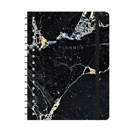 Agenda Planner Completo Minerais Preto A5