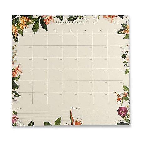 Bloco Planner Mensal Tropical