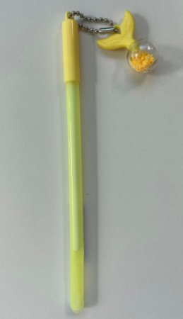 Caneta Sereia Colors Pingente Amarela